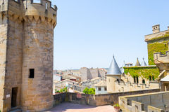 Top of castle of Olite Stock Image
