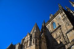 The top of the curch is almost touching the sky royalty free stock image