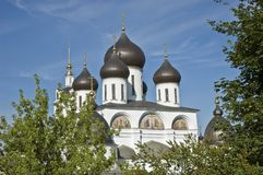 Top of cathedral in Dmitrov town, Russia Royalty Free Stock Photos