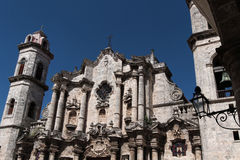 Top of Cathedral of Havana Stock Photography