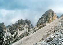 The top of Catinaccio Antermoia. Dolomites Stock Images