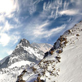 Top of the Caucasus mountain range. Royalty Free Stock Photo