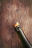 Top of champagne bottle with cork . Stock Photography