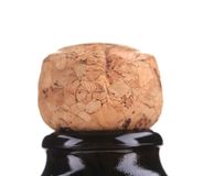 Top of champagne bottle with cork. Stock Images