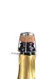 Top of champagne bottle. Royalty Free Stock Photography