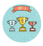 Top-3 champions cups Royalty Free Stock Photography