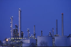 The top of a chemicals and plastics plant Stock Photos