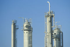 The top of a chemicals and plastics plant Stock Image
