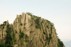 Top of a chinese mountain in anhui province Stock Photos