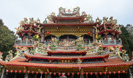 Top of the Chinese temple in Tainan, Taiwan Royalty Free Stock Photography