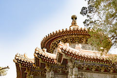 Top of Chinese Temple stock photography