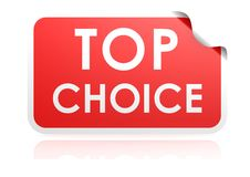 Top choice sticker Royalty Free Stock Image