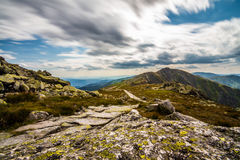 On the top of Chopok peak. Photo was taken in Low Tatras national park from Chopok peak, Slovkia royalty free stock photos