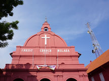 The top of Christ church in Melaka, Malaysia Royalty Free Stock Photo