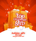 Top Christmas gifts. Top Christmas gifts design template Stock Images