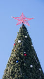 The top of a Christmas tree against the  sky Stock Photo
