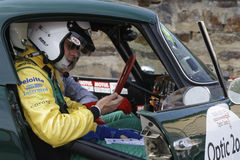 Top chrono. MARCHAMPT, FRANCE, April 20, 2016 : Tour Auto rally. The Tour de France Automobile was revived in 1992 for historic cars with both a competition and Stock Image