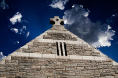 Top of church with cross Stock Images