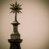 Top of a church. Spire in Switzerland Royalty Free Stock Photo