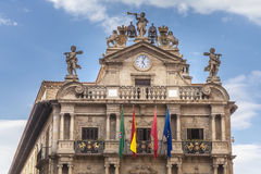 Top of City Hall in Pamplona, Spain Stock Photos