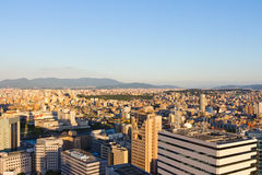 Top City View at Fukuoka Royalty Free Stock Photography