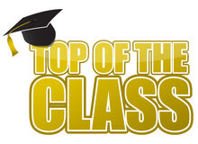 Top of the class graduation cap illustration Royalty Free Stock Photo