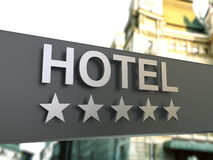 Top class hotel sign Stock Images