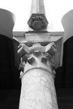 The Top of Classical Column, Marble stone Royalty Free Stock Image
