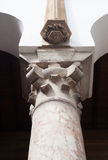 The Top of Classical Column, Marble stone Royalty Free Stock Photo