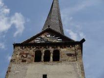 Top of clock tower Stock Photos
