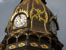 Top of clock tower Stock Images