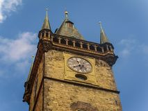 Top of The Clock Tower in Old Town Square in Prague, Czech Republic Stock Photography