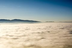 Over the clouds you can find Neverland royalty free stock image