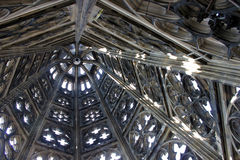 Top of cologne church. Inside top of cologne church Stock Photos