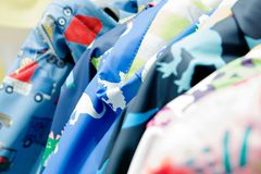 Top colorful children`s clothes for boys royalty free stock images