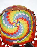 The top of colorful fire balloon stock photo