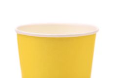 Top colorful paper coffee cup. Royalty Free Stock Images
