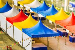 Top of a colorful tent for large events Royalty Free Stock Photos