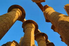 Top of columns in Karnak temple Stock Photography
