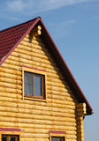 Top of country wooden house in retro style Royalty Free Stock Photography