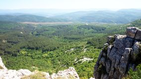 Crimean mountains and sunny day royalty free stock photos