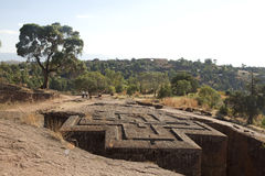 Top of a cross shaped church, Ethiopia Royalty Free Stock Photo