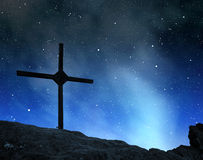 Top Cross silhouette Royalty Free Stock Images