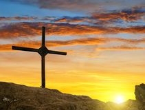 Top cross silhouette Royalty Free Stock Photography