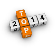 TOP 2014. Cubes (orange-white crossword puzzles series Stock Photo