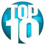 Top 10. 3d blue icon ranking sphere Royalty Free Stock Images