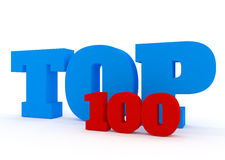 Top 100 3D concept  on white. Stock Image Royalty Free Stock Image