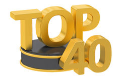 Top 40, 3D rendering Stock Photography