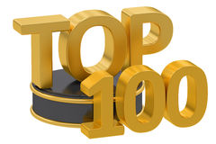 Top 100, 3D rendering. On white background Stock Photography
