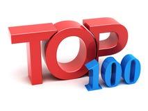 Top 100. 3d text render Stock Image